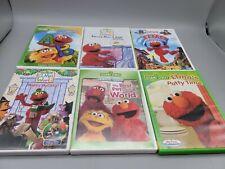 Lot of 6 Kids Sesame Street DVD's Elmos World Songs Learning Educational Shows