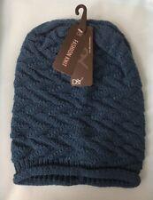 NWT Lot Of 3 Piece Women's D&Y Winter Stretch Warm Knit Beanie Hat Cap Dark Aqua