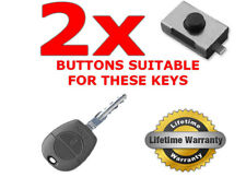 2 x REPLACEMENT SWITCH BUTTONS FOR NISSAN ALMERA PRIMERA NATS KEY FOB