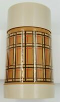 Vintage Retro Brown Orange Plaid Aladdin Best Buy Thermos Wide Mouth Pint WM4040