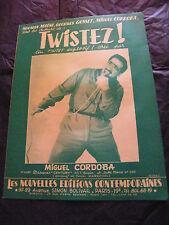 Partitur Twistez! Miguel Cordoba-norman Maine Georges Gosset 1962