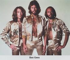 The Bee Gees Barry Robin & Maurice Gibb EXTREMELY RARE ALL (3) SIGNED RP 8x10!!!