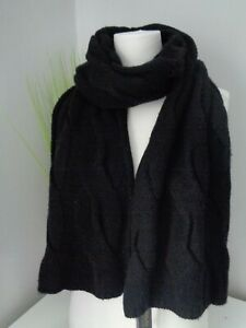 BNWT Polo Ralph Lauren Chunky Black Cable Knit Scarf