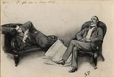 """Sherlock Holmes L'avventura della scatola di cartone SIDNEY Paget 1893, stampa 7x5 """""""