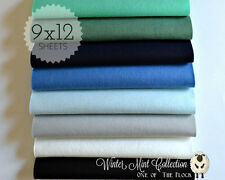 "Winter Mint Felt Collection Merino Wool Blend Felt, Eight 9"" X 12"" Sheets"