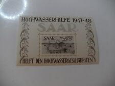 Saar HOCHWASSERBLOCK BLOCK 2 ** POSTFRISCH 600 € Prüfgarantie