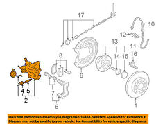 VW VOLKSWAGEN OEM 05-10 Jetta Rear-Brake Disc Caliper 1K0615424M