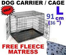 Équipements de transport noir en métal pour chien