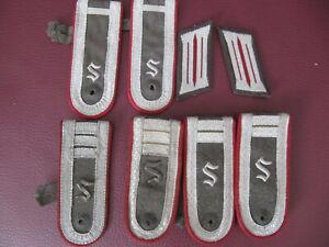 3 Paar Schulterstücke von NVA-Offizierschüler + Kragenspiegel