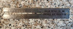 Vintage Adcom Metals Co & Container Wire Products Standard Screw Gauge Ruler