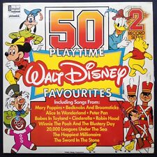 50 PLAYTIME DISNEY FAVOURITES soundtracks 2LPs Sword Stone Bedknobs Peter Pan UK