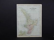 Map of New Zealand and Western Australia George F. Cram 1901 Double Sided #1