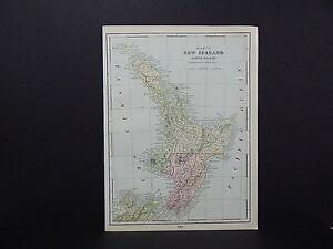 Map of New Zealand & Western Australia George F. Cram 1901 Double Sided W19#01