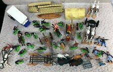 Collection Of Vintage Britains Deetail Cowboys & Indian Figures + Timpo #924