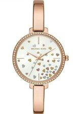 Michael Kors Jaryn Rosegold-tone Ladies Bangle Watch MK3978