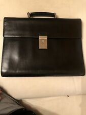 PRADA Saffiano Black Leather BriefcaseMens Bag Italy Leather