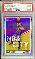 LEBRON JAMES 2019-20 PANINI HOOPS NBA CITY HOLO LOS ANGELES LAKERS PSA 9