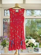 GORGEOUS *JOE BROWNS* PINK DANDELION CLOCK & POLKA DOT SUMMER SMOCK DRESS 10