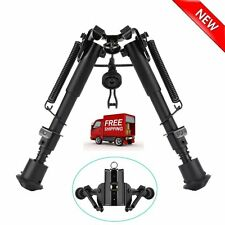 6-9 Inch Adjustable Handy Spring Return Sniper Hunting Tactical Rifle Bipod ZQ