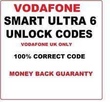 Vodafone UK only Smart Ultra 6 Unlock Codes 16 Digit codes Vodafone UK