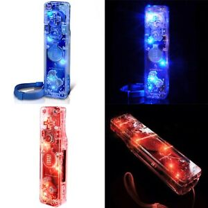 TWO NEW Bundle Afterglow Wii/WiiU Motion Controller Plus Red Blue Lighted Aw.3