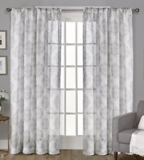 """Exclusive Home Nagano Dove Grey Curtain Pair of 2 Panels Medallion 54"""" x 96"""""""