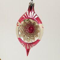 Vintage Mercury Glass Christmas Ornaments Ball Teardrop Fantasia Poland Lot of 6