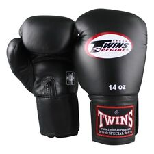 Twins Boxhandschuhe BGVF black 16Oz. Kurzer Klettverschluss, bestes Leder.