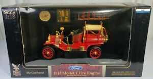 Yat Ming Road Signature 1914 Model T Fire Engine 1:18 24K Gold Plated Coin 20038