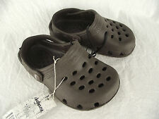 BNWT Little Boys Sz 9 Rivers Doghouse Brand Choc Brown Clog Beach Sandals Shoes