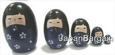 5pc Wooden Geisha Kokeshi Nesting Matryoshka Doll MD2/P S-1648