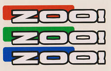 Zoo Trial Bike Frame Stickers/Decals, Cycle