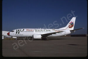 Western Pacific Boeing 737-300 N962WP *CHRISTMAS* Kodachrome Aircraft Slide/Dia