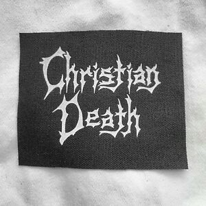 Christian Death Sew On Patch 80s Goth Rozz Williams Darkwave