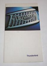 Prospekt / Broschüre Triumph Thunderbird - Stand 1995!
