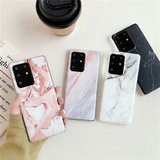 Soft Glossy Marble For Samsung S20 S10e S10 S8 S9 Plus A51 A50 A71 Phone Cases