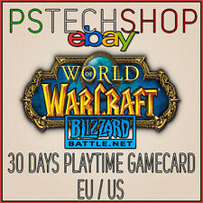WORLD OF WARCRAFT 30 DAYS PLAYTIME CODE - WOW 30 DAYS GAME TIME KEY  | EU / US
