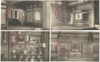 Zuiganji Ojima Island Matsushima Japan - 1920s 4 Japanese Travel Postcards