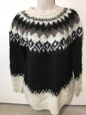 One Of A Kind Handmade 100% Alpaca Wool Sweater Icelandic Bolivia NEW Sz S