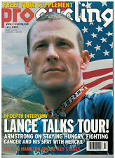 July 2002 issue of  Pro Cycling Magazine Lance Armstrong Cover
