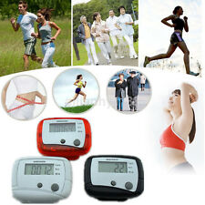 UK LCD Pedometer Step Walking Jogging Calorie Counter Distance Fitness+Belt Clip