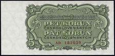 Tschechoslowakei 5 Kronen 1961 Pick 082 (1)