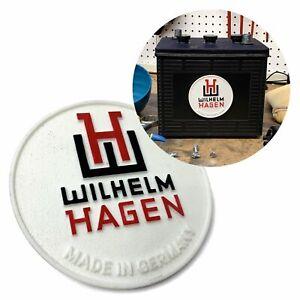 Wilhelm Hagen Battery Badge for VW Beetle Bus Ghia Okrasa Split Porsche 356 911