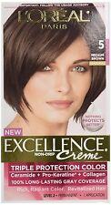 L'Oreal Excellence #5 Medium Brown Hair Color (Pack of 12)