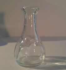 Clear Glass Bottle Vase 3 1/2 Inches
