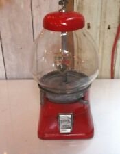 Vintage ABBEY MFG CO Red 1 Cent GUM Ball TOY Candy Machine Dispenser W/ KEY!