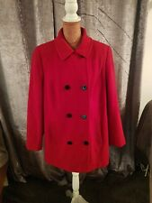 Red Windsmoor Coat Wool Cashmere Blend Size 16
