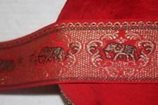 """New Listing2 yards black red gold elephant woven jacquard sewing ribbon 2.5"""" wide"""