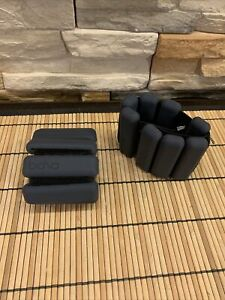 Classic BARELY USED Bala Bangles 1lb Ankle Wrist Weights (Charcoal) One Size Fit