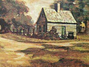 CHESTEE HARRINGTON MINVIELLE Lithograph Handsigniert Rural House Landhaus Nahan